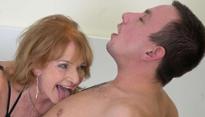 Gilf Sex With Freaking Out Young Man