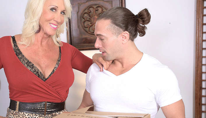 60 Silver GILF Tempts Teenager