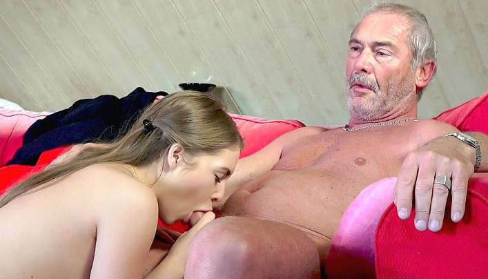 blowjob young woman young man