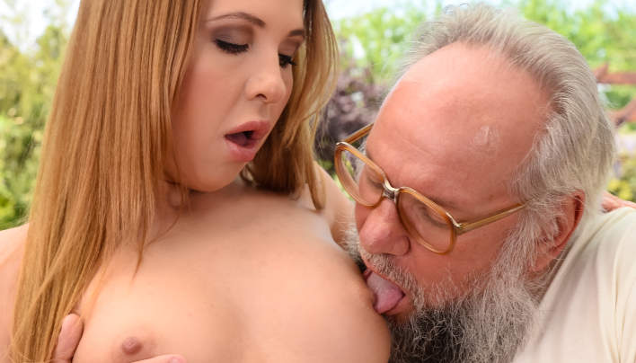 Porn an Old Man Albert With Diya Noir