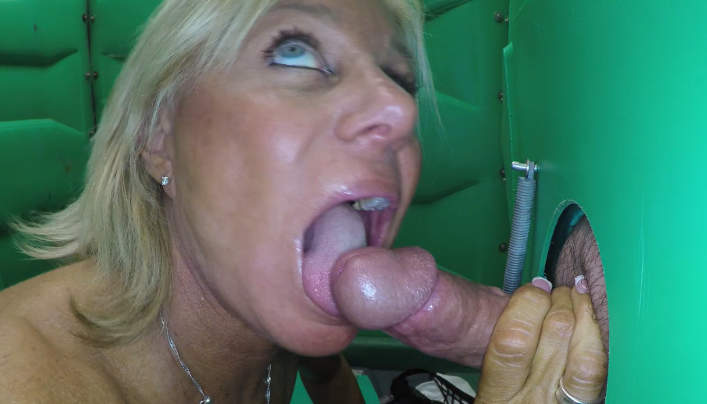 Payton hall at gloryhole swallowing cum best porno
