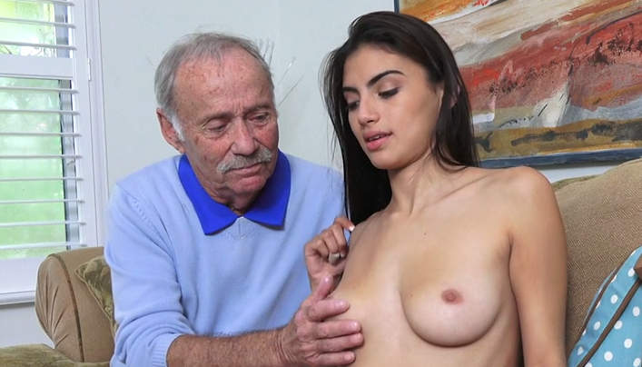 Grandpa and Teen Girl Sex : Latina Girl Old Man Sex
