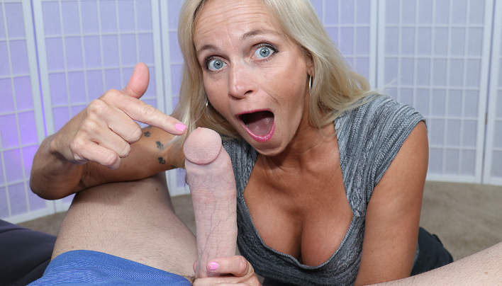GILF Worships Big Pink Cock : Old Slut Dani Dare