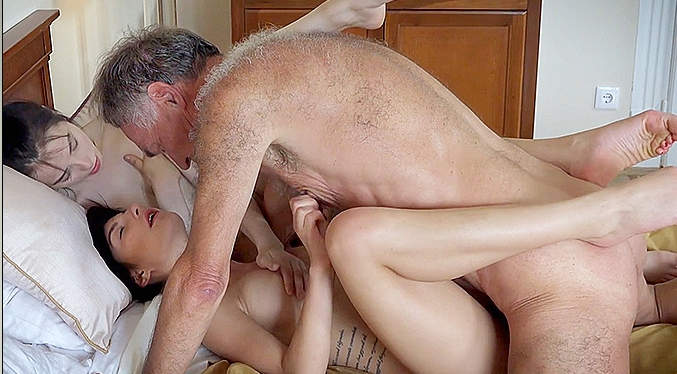 Maya Crush Threesome Old Man Sex With Vera